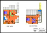 AKAMAS GARDENS Maisonette No G6-3 Bed Colour Plan