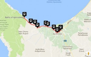 Polis & Latchi Bus Routes - Baths of Aphrodite Latchi