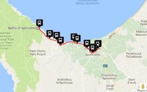 Polis & Latchi Bus Routes - Baths of Aphrodite Latchi